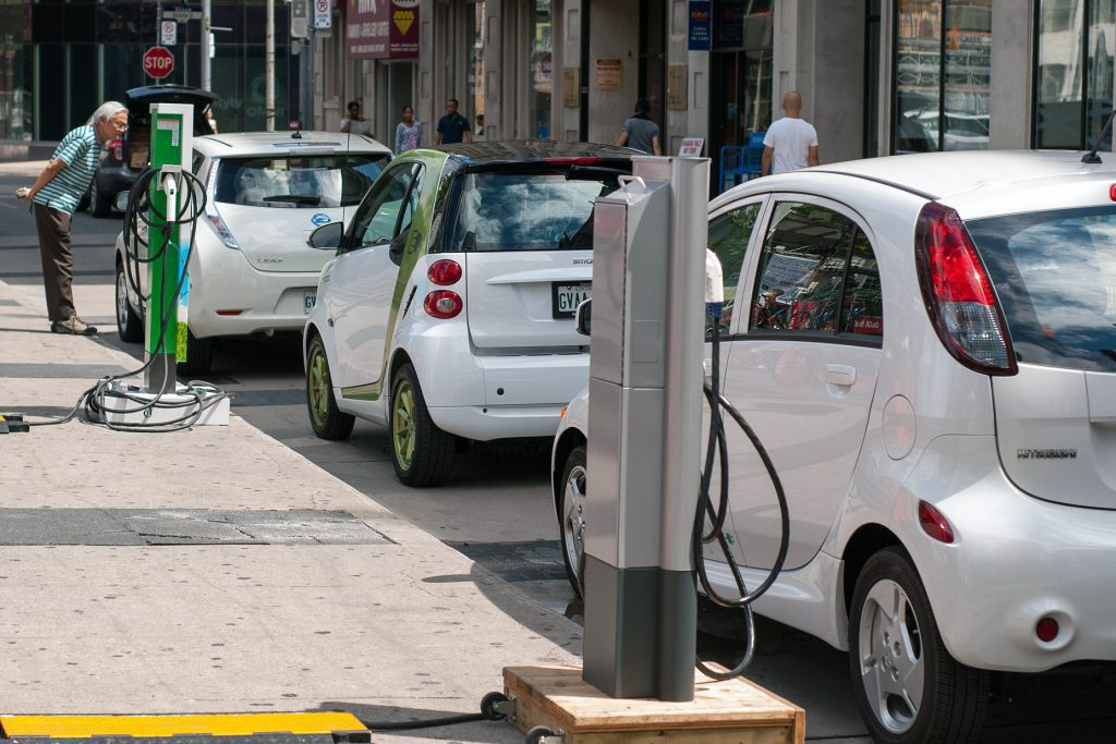 electric cars charging smart cars