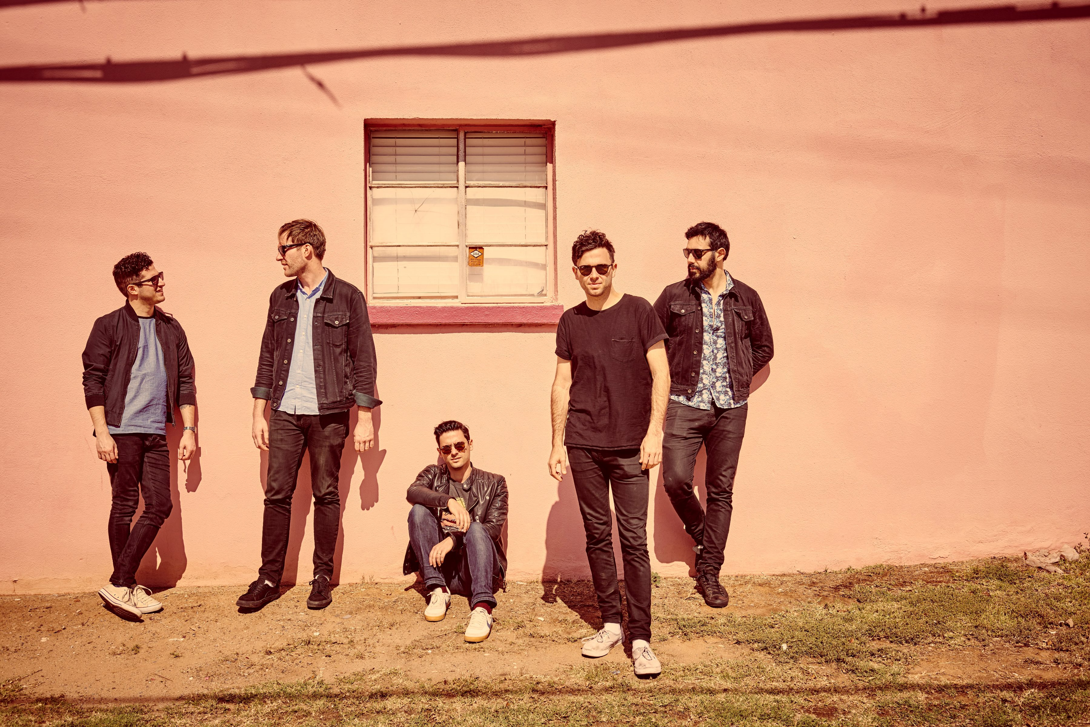 Arkells against a wall promo photo