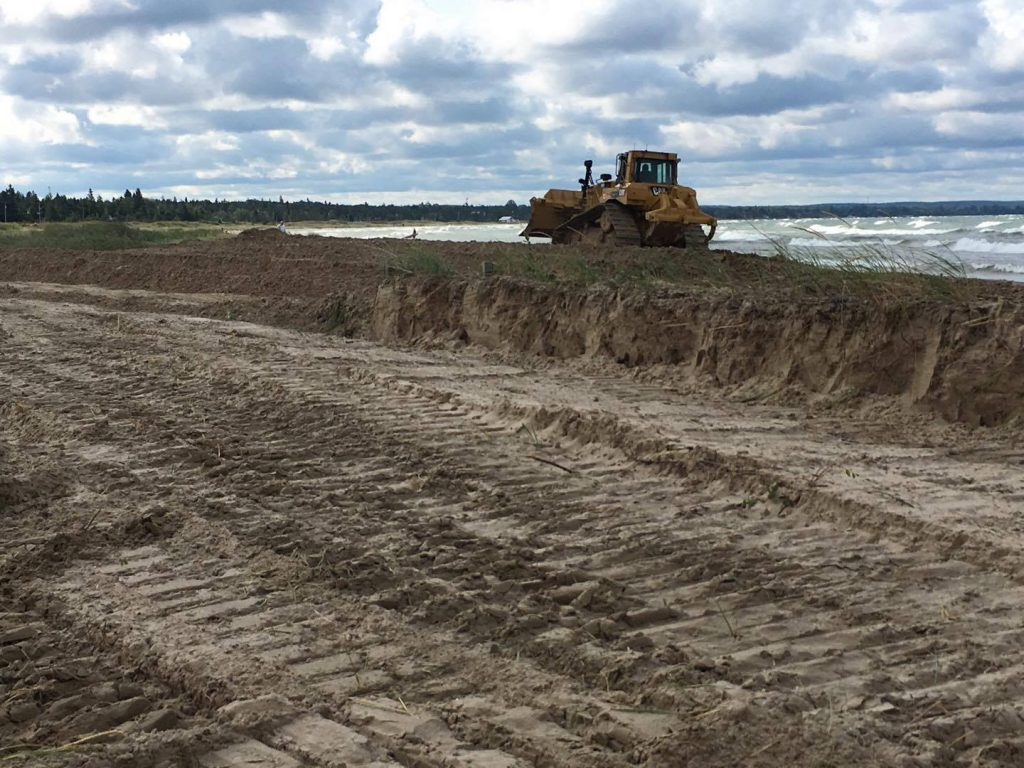 Sauble Beach flattened by bulldozers in 2017
