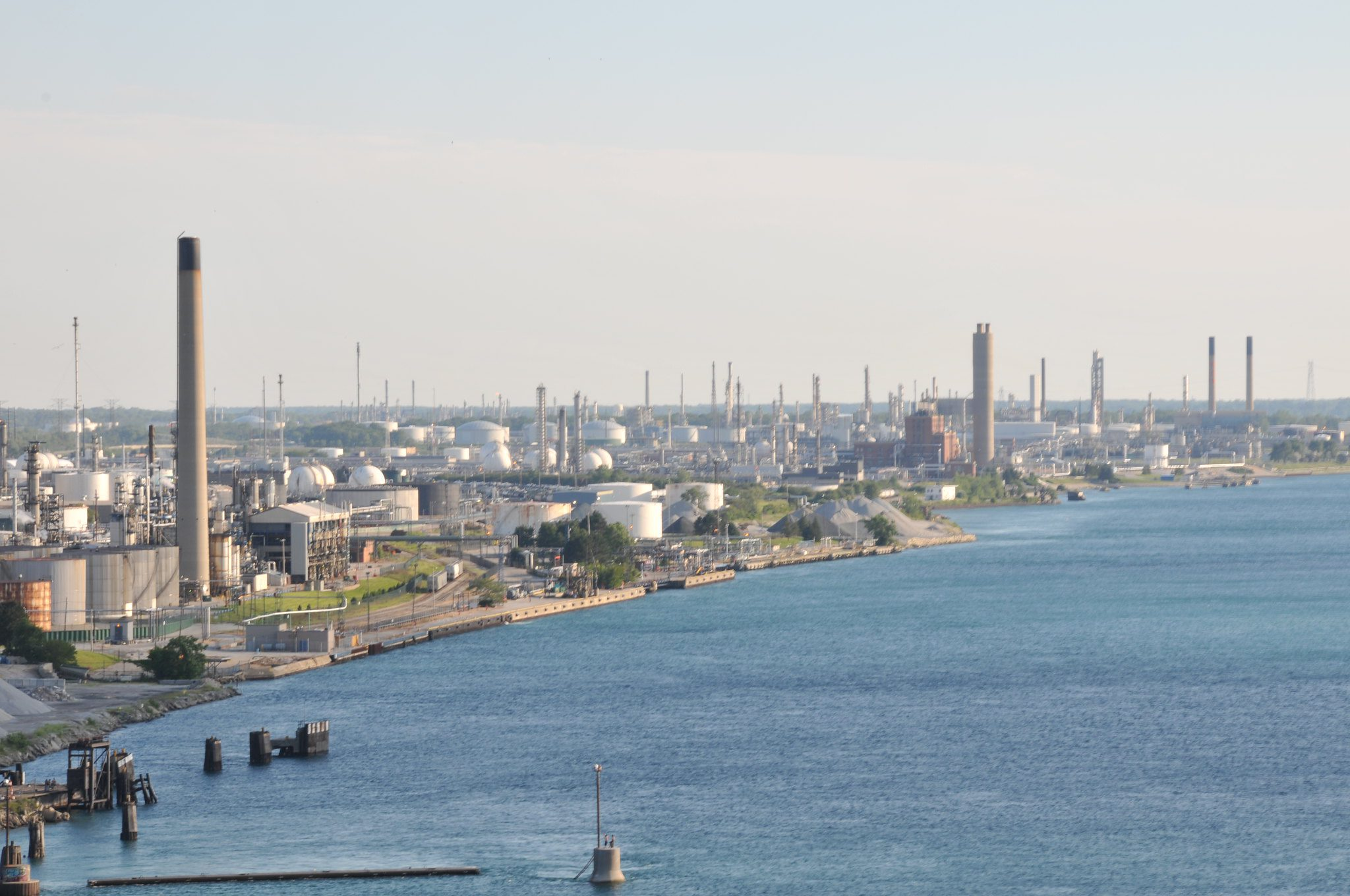 In 2004, a massive spill by Imperial Oil in Sarnia leaked 250,000 litres of volatile chemicals into the St.Clair River.