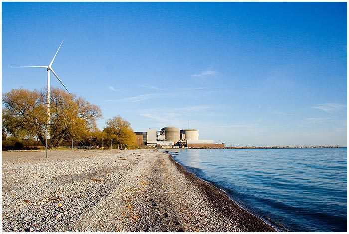 Wind Turbine and Pickering Nuclear Station