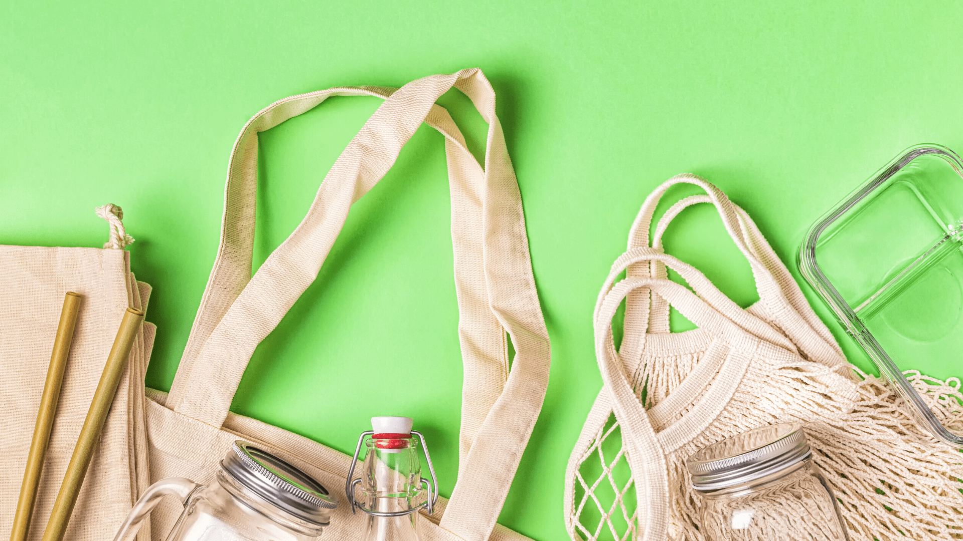 Reusable items, like bags, straws and bottles, that can replace single-use plastics