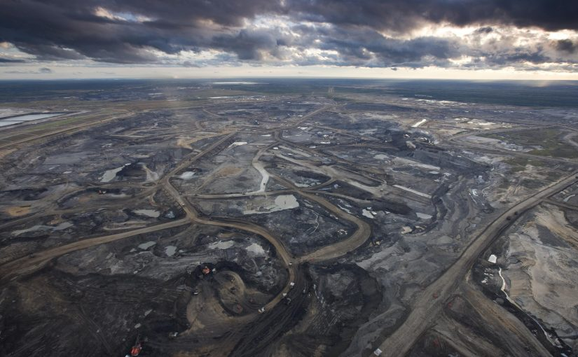oils sands with tailings ponds